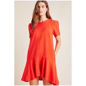 Anthropologie Rousseau Flounced Mini Dress